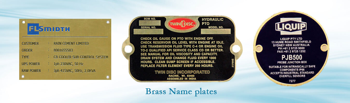 Name Plates Manufacturer Aluminum Name Plate Ss Name Plate